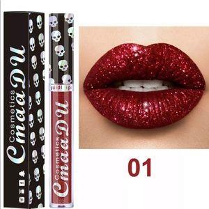 💀 CmaaDu Skull Glitter Lip Gloss